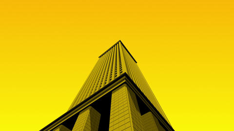 SHA 3d Building Yellow Animation