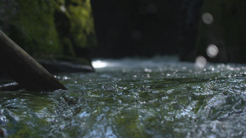 The surface of a mountain stream Footage