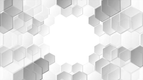 Abstract grey tech geometric video animation CG動画素材