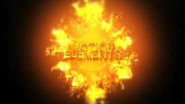 Fire Logo ME Plantilla de After Effects