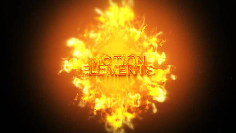 Fire Logo ME After Effects Template
