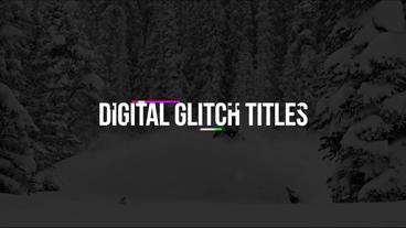 Digital Glitch Titles Premiere Pro Template