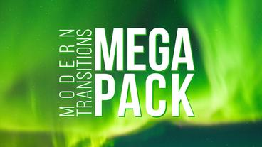 Modern Transitions Mega Pack เทมเพลต Premiere Pro