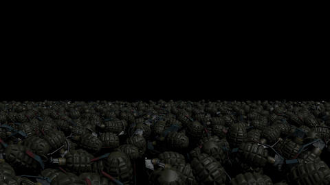A large number of combat grenades Filmmaterial