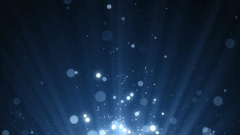 Particles blue dust abstract light bokeh motion titles cinematic background loop CG動画素材
