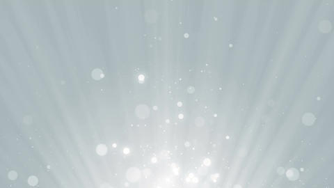 Particles white business bright glitter bokeh dust abstract background loop Animación