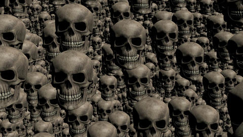 Cemetery skulls for halloween Footage