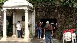 Portugal Madeira catholic altar outdoor at a stone wall in Monte village 画像