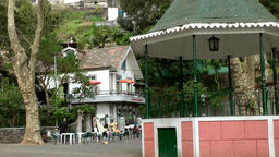 Portugal Madeira public square with pavillion in Monte village Footage