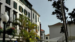 Portugal Madeira public square with marble stones in Funchal Image