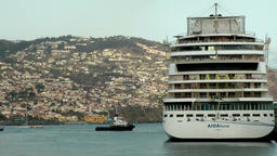Portugal Madeira German AIDA cruise ship berthed in Funchal port Image