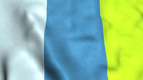 Canary islands Flag Animation