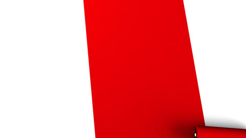 Red Paint Roller Animation