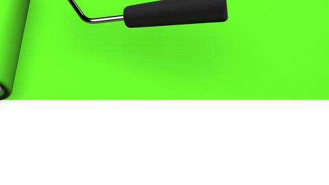 Green Paint Roller CG動画