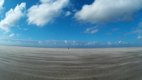 On The North Sea Beach of St. Peter-Ording Image