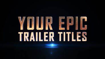 Epic Trailer Titles Template After Effect