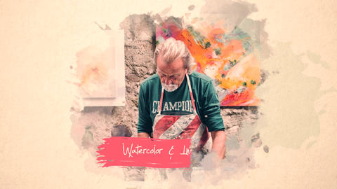 Watercolor and Ink Slideshow Premiere Premiere Pro Template