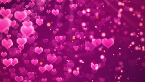 romantic hearts background Image