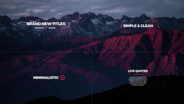 Minimal Titles +40 After Effects Templates