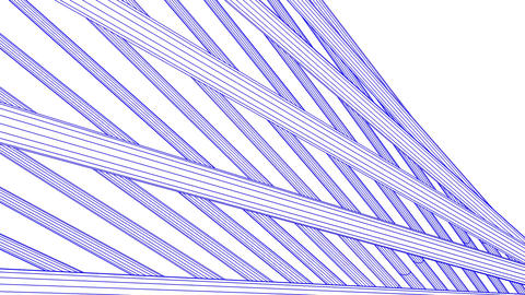 Loopable Blue Wire Frame Poles Abstract On White Background Animation
