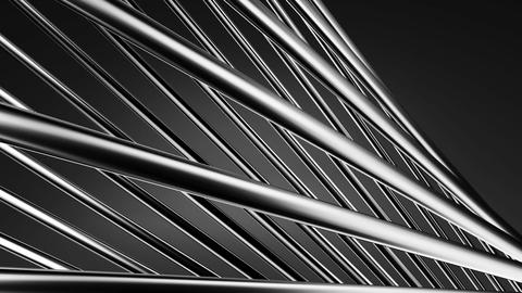 Silver Poles Abstract On Black Background Animation