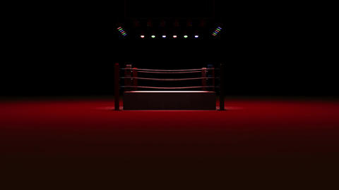 Boxing Ring On Red Light CG動画