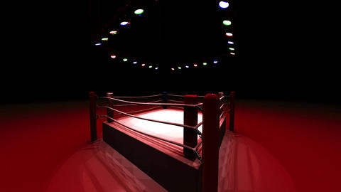 Turn Boxing Ring On Red Light CG動画