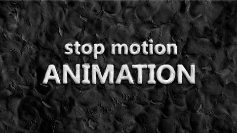 Stop motion animation showing words Animation