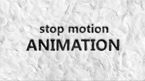 Animated words: stop motion animation Animation