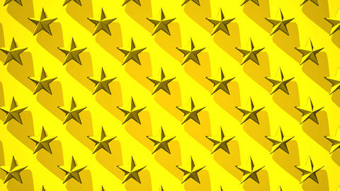 Yellow Stars Abstract CG動画