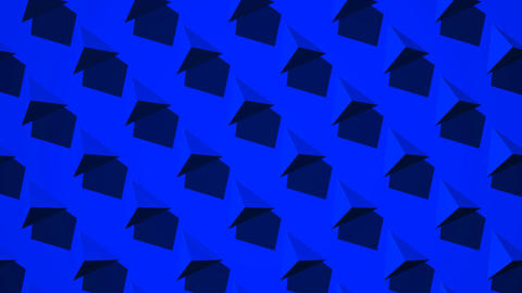 Blue Triangle Abstract CG動画