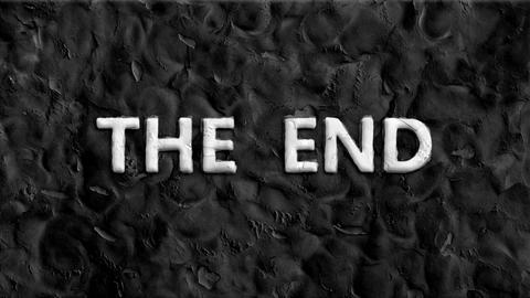 "Animated words at ""the end"" Footage"