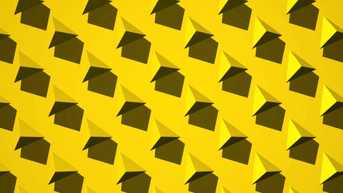 Yellow Triangle Abstract CG動画