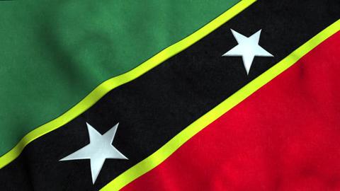 St christopher nevis Flag Animation