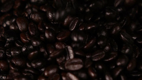 Falling coffee beans slow motion Footage