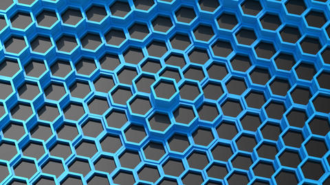Background of Animated Hexagons Animation