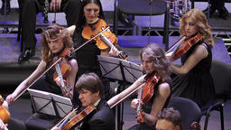 Orchestra with musicians on stage Footage
