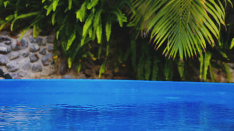 Cinemagraph of beautiful refreshing blue swimming pool water Filmmaterial