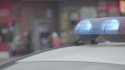 Close-up of flashing emergency light flasher ビデオ