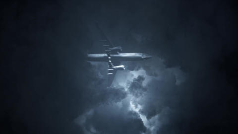 Aircraft Crushing Down Under a Lightning Storm Archivo