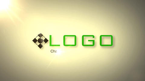 Green Ribbon Logo Reveal After Effects Template