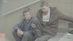 Two beggars begging Footage