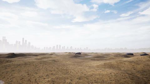 Car In Desert Image
