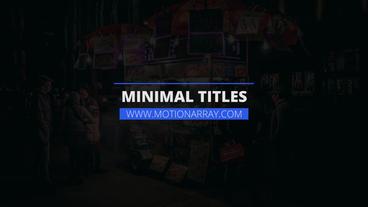 Minimal Titles v2 Premiere Proテンプレート