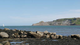 Runswick bay rocky beach Footage