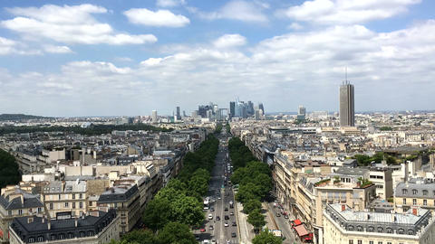 View from Arc de Triomphe in Paris 영상물