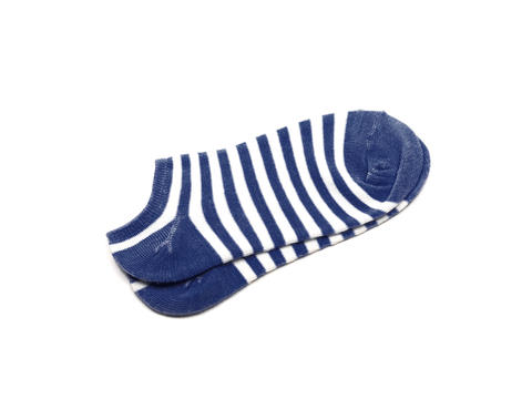 Blue Sock, Isolated on a white background Photo