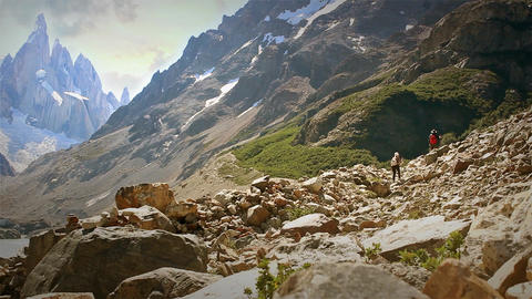 Climbers On Mount Fitz Roy, Argentina Image