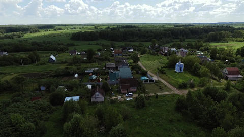 Over the Russian village Chapel Filmmaterial