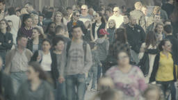 People on a crowded street. Crowd Stock Video Footage